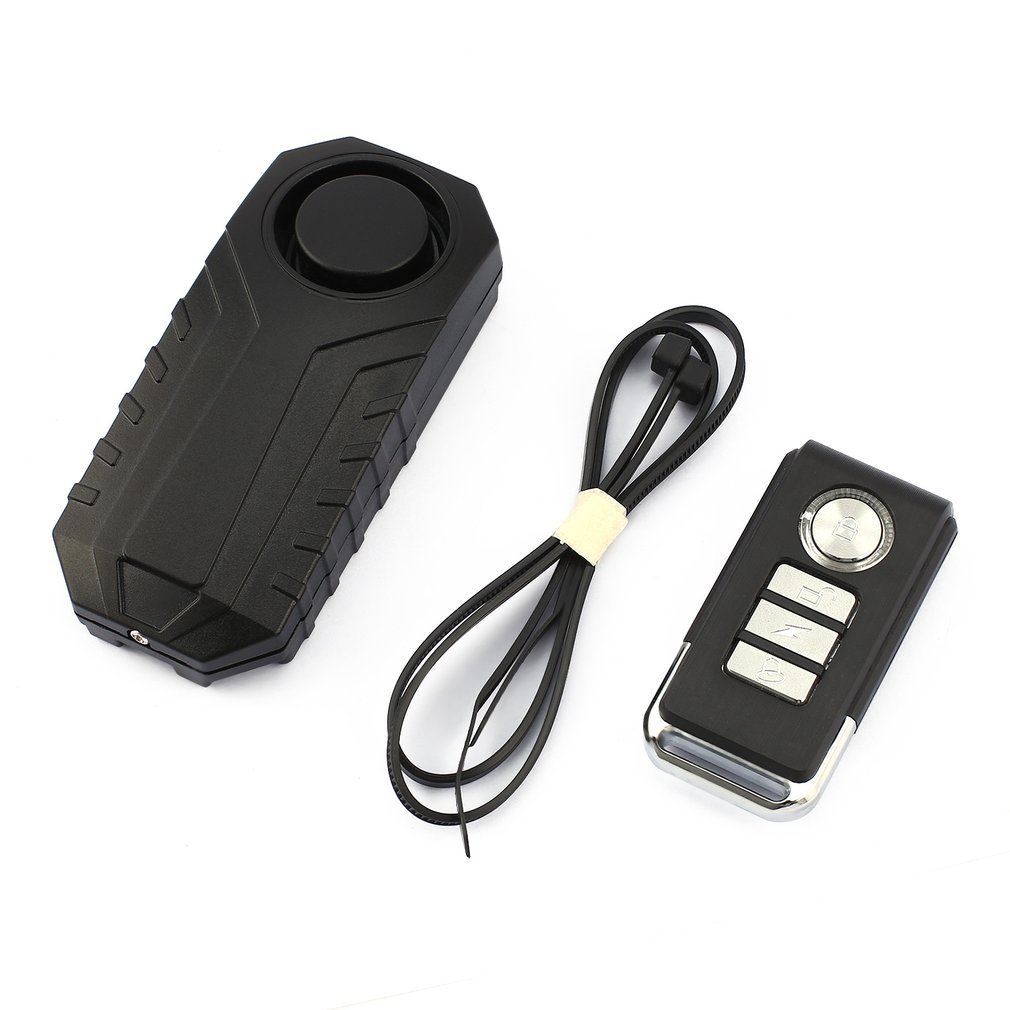 113dB Loud Wireless Bicycle Anti-theft Alarm Waterproof Door/ Window Vibration Alarm Intelligent Remote Control Alarm Sensor