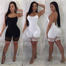 Ladies Fashion Jumpsuit Sexy Sleeveless Skinny Rompers for W