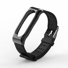 Wristband For Xiaomi Mi Band 2 Youth Version Sports Waterproof Breathable Silicone Strap With Magnetic Shell Bracelet 1sh