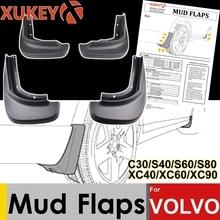 ชุดรถ Mud Flaps สำหรับ Volvo C30 S40 S60 S80 XC40 XC60 XC90 V40 V60 Mudflaps Splash Guards Mud Flap mudguards Fender Styling 2018
