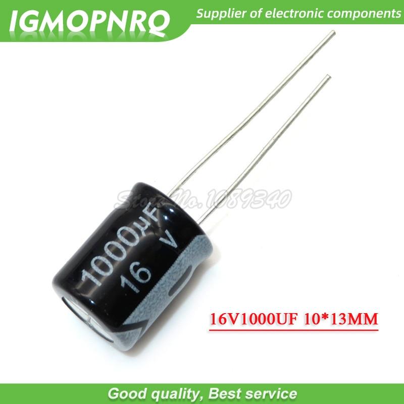 10PCS 16V1000UF 10*13mm 1000UF 16V 10cm*13cm Aluminum Electrolytic Capacitor 16V-1000UF