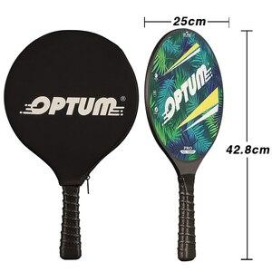 Image 2 - OPTUM 3K Углеродное волокно Профессиональный маткот весло для пляжного тенниса ракетка для игры про весло матка с чехлом