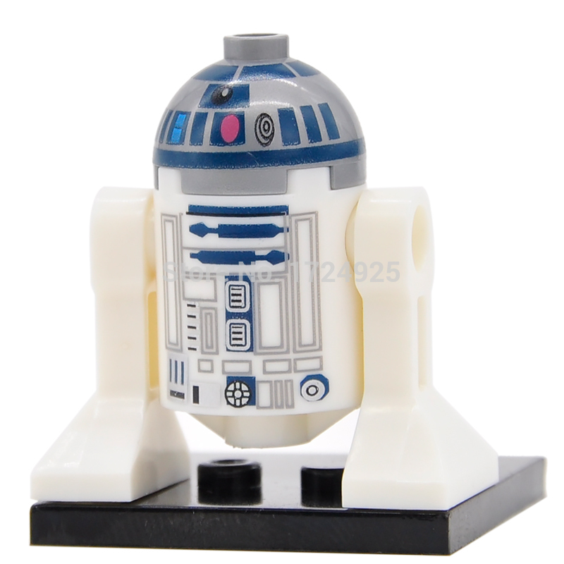 Single <font><b>Star</b></font> <font><b>Wars</b></font> Robot C3PO R2D2 C-3PO R2-D2 <font><b>BB8</b></font> Model Starwars Building Blocks Bricks Kits Toys for Children XH332 image