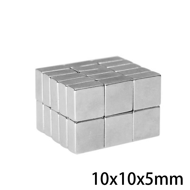 50/100/200/300pcs 10x10x5 mm Rare Earth Neodymium Magnet 10*10*5 mm Powerful Strong Magnetic Magnets 10x10x5mm Block 10*10 mm(China)