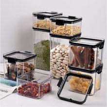 Airtight Food Storage Container Plastic Kitchen Refrigerator noodle Breadbasket Sugar Flour Baking Supplies Pantry organizer