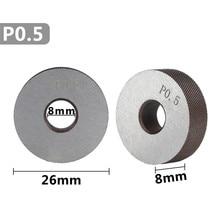 anti slip diagonal thick knurling wheel 2 pcs 0.5mm
