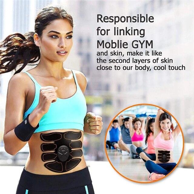 Abdominal Muscle Stimulator Trainer Smart Wireless Abs Stimulator Fitness EMS Muscle Massager Electric Slimming Massage Machine 4