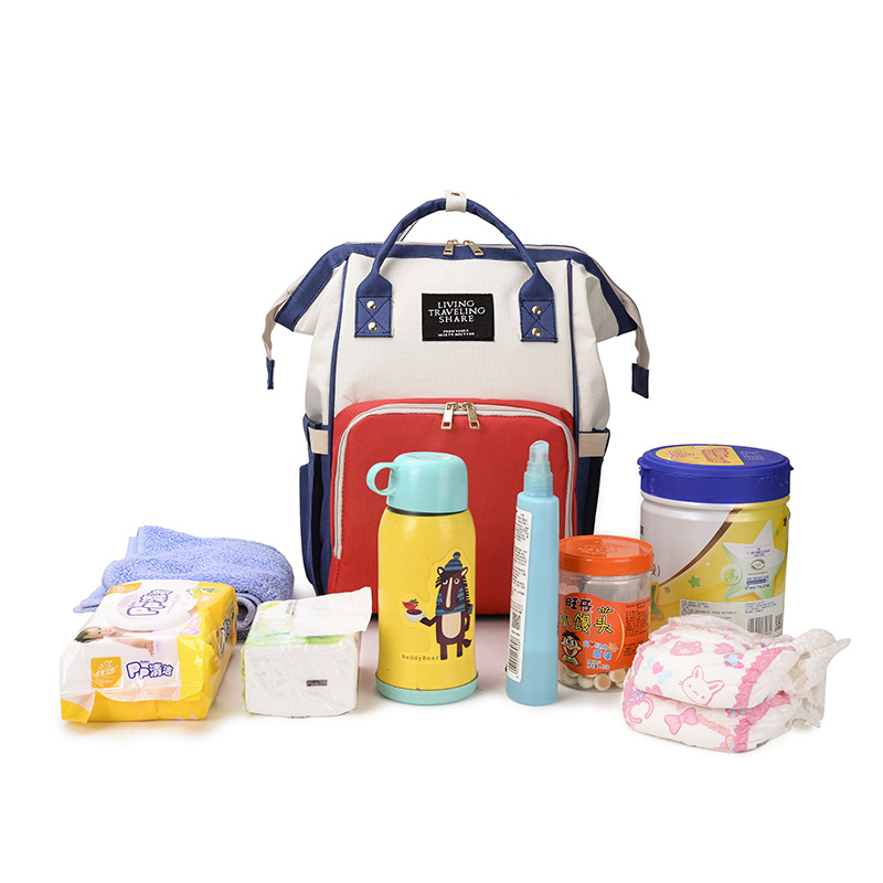 Diaper Bag Multi-functional Nursing Large-Volume Backpack Pregnant Women Maternity Package Feeding Bottle MOTHER'S Bag Mixed Col
