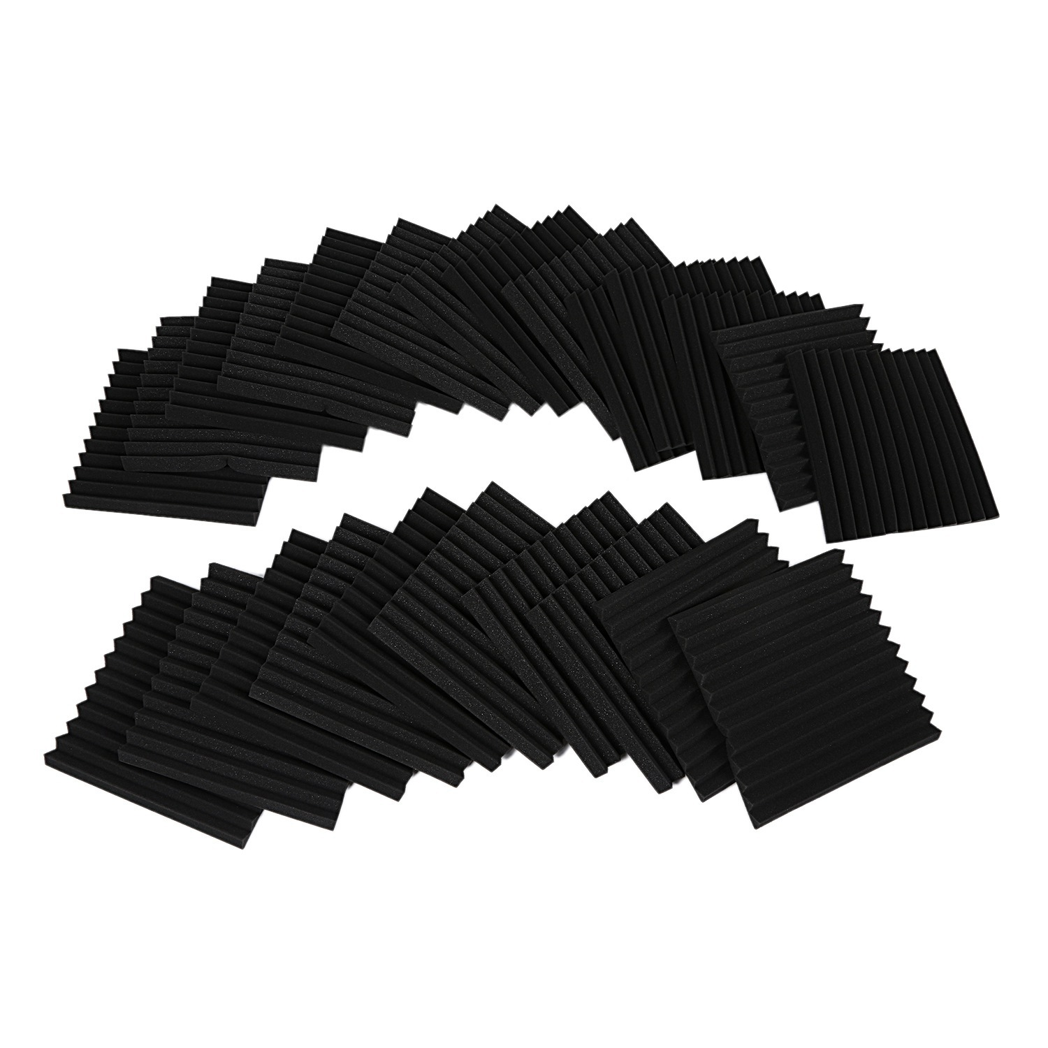 24 pcs Soundproofing Foam Studio Acoustic Panels Studio Foam Wedges 1 X 12 X 12 inch Soundproof Absorption Treatment Panel
