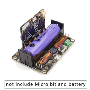 Image 2 - KittenBot Robot:bit V2.2 Expansion Board for BBC Micro:bit Extension Board support 18650 Battery for Micro:Bit DIY Robot