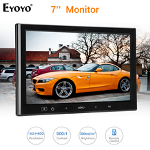 Eyoyo EM07L 7 Inch LCD Screen Computer TV Monitor Screen 1024X600 HDMI VGA AV Specker For PC laptop Car Office Home Security 12V