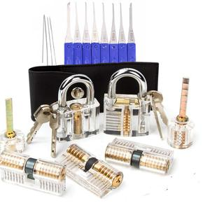 7pcs Transparent Locks with 17
