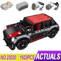 LepinBlocks 23020 гоночный автомобиль модель совместима MOC-36559 Mini Cooper строительные блоки, Детские кубики, развивающие игрушки, дня рождения подарок