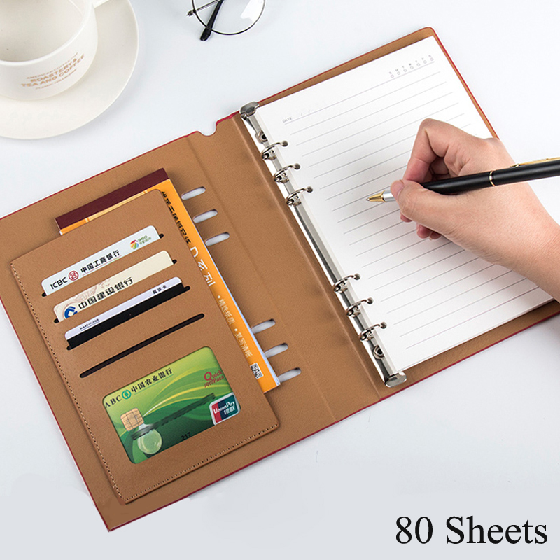 A5 Agenda 2019/2020 Loose-leaf Binder Notebook PU Leather Diary Note Book Journal Business Notepad Office Stationery Papeleria