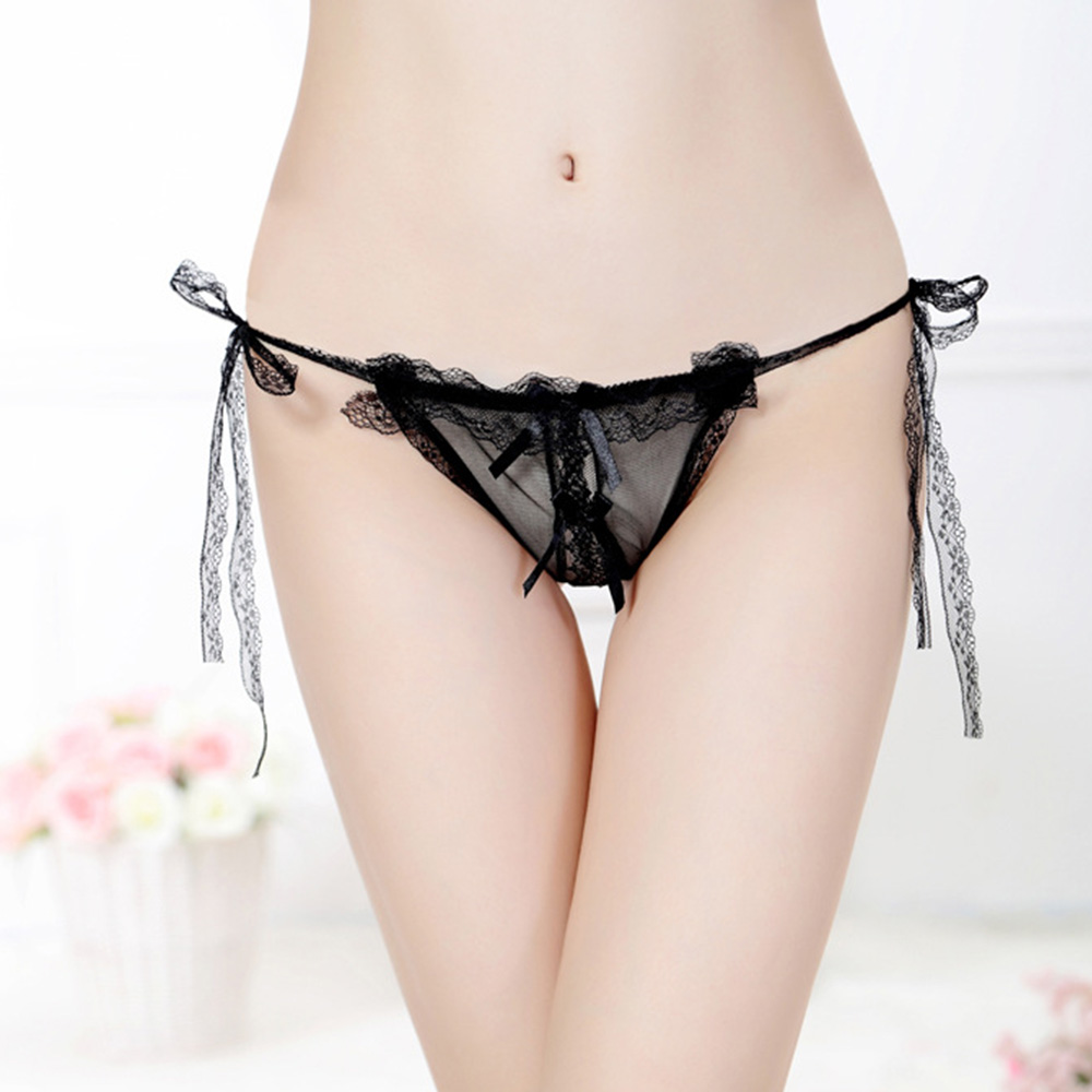 Sexy Ladies Lace Lingerie Women Exotic Apparel Elastic Perspective G-Strings Underwear Low Rise Thong T-pants