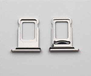 Image 4 - 10 set/lotto Dual Lettore di Sim Card connettore del Cavo Della Flessione + Sim Card Vassoio della Fessura Del Supporto Per il iPhone 11