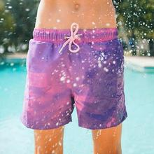 Color-changing Beach Shorts Boy Kid Quick Dry Swimwear Beach