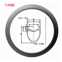 YASE Road Tubeless Carbon Bike Rims 33x30mm carbon rim wheel carbon disc rims bicycle wheel 16H 18H 21H 3K 12K UD platt last full carbon rest wheel tt style bicycles carbon wheel 3k 12k the carbon bike parts