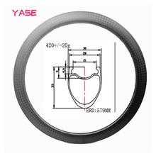 цена на YASE Road Tubeless Carbon Bike Rims 33x30mm carbon rim wheel carbon disc rims bicycle wheel 16H 18H 21H 3K 12K UD