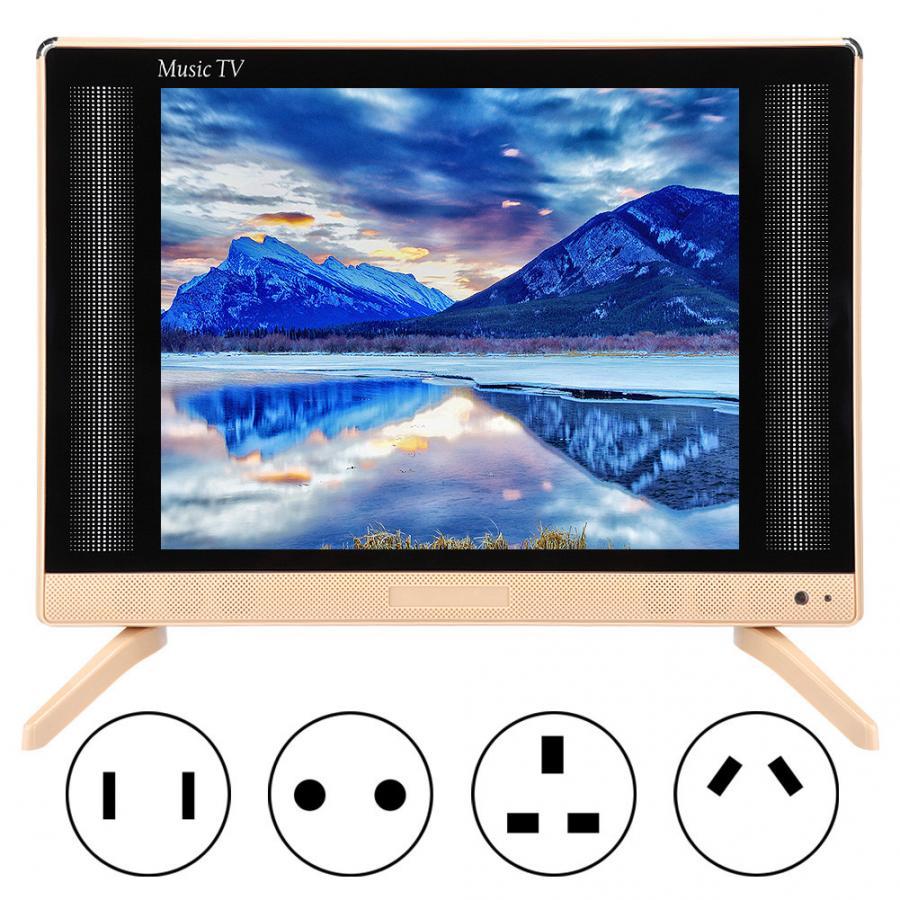 Led tv 22 inç yüksek çözünürlüklü LCD tv taşınabilir Mini televizyon bas ses kalitesi ile 110-240V abd/ AU/ab/İngiltere tak