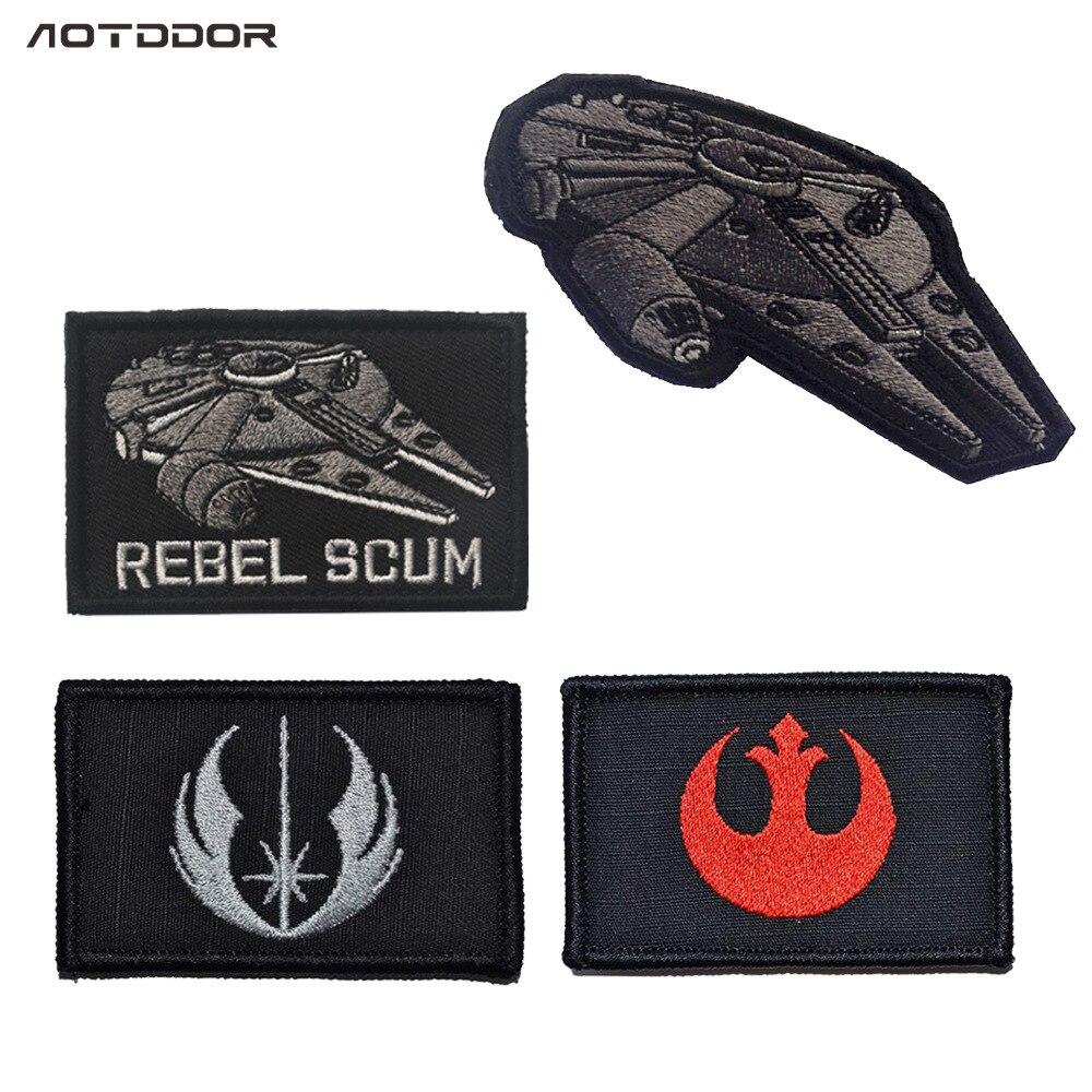 Rebel Scum Star Wars Star War Millennium Falcon Velcro Label Embroidered Armband