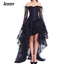 Jececer women steampunk corset Наборы сексуальное кружевное