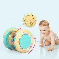 LED Muziek Vroege Educatief speelgoed Learning Developmental Baby Rammelaars Grappige Kinderen Baby Speelgoed Carrousel Musical Hand Drum Beat 2