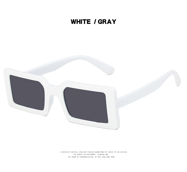 Fashion Sunglasses Designer Luxury Brand Rectangle Sunglasses Women Vintage Small 2021 trend Female Sun Glasses Shades For Women (18)
