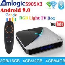 A95X F3 Air RGB Light Smart TV Box Android 9.0 Amlogic S905X