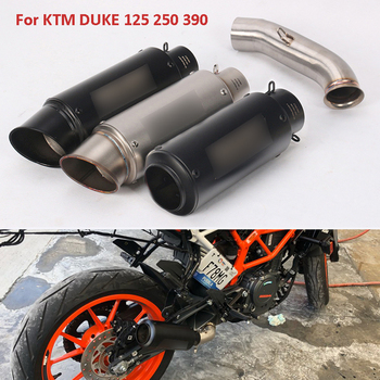 For KTM DUKE  125 250 390 RC390 2017 2018 2019 Slip on Motorcycle Exhaust Pipe Silencer Tip Muffler Escape Middle Mid Link Tube