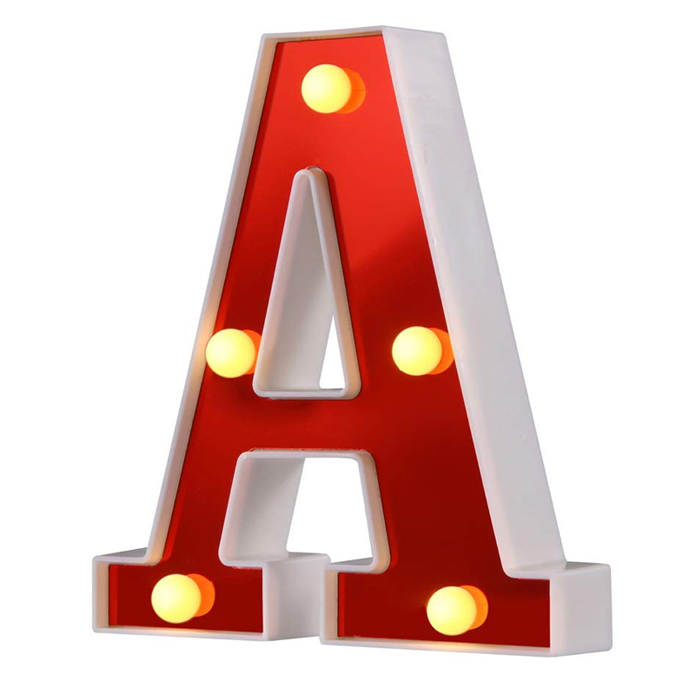 LED Marquee Letter Lights 26 Alphabet Night Lights Lamp For Birthday Party Home Bar Decor FP8