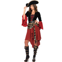 Halloween Pirates of the Caribbean Women's Cosplay Character Play Makeup Ball Party Stage DS Costume