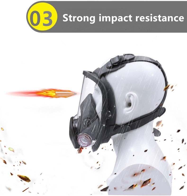 Hfa2b49ee503a49aca36f5e80566051d5G 7 Suits Gas Mask Full Face Chemical Respirator Laboratory Medical Masks Spraying Safety Protection Anti virus Filter Mask