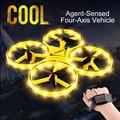 ZF04 Радиоуправляемый мини-Квадрокоптер  индукционный Дрон  Смарт-часы с дистанционным зондированием  жестами  самолетом  НЛО  ручной контрол...