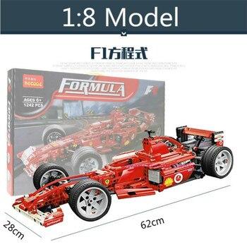 1242pcs Formula Racing Car 1:8 Model Building Blocks Sets Educational DIY Bricks Toys Compatible Lepin 8674 Kids Christmas Gift