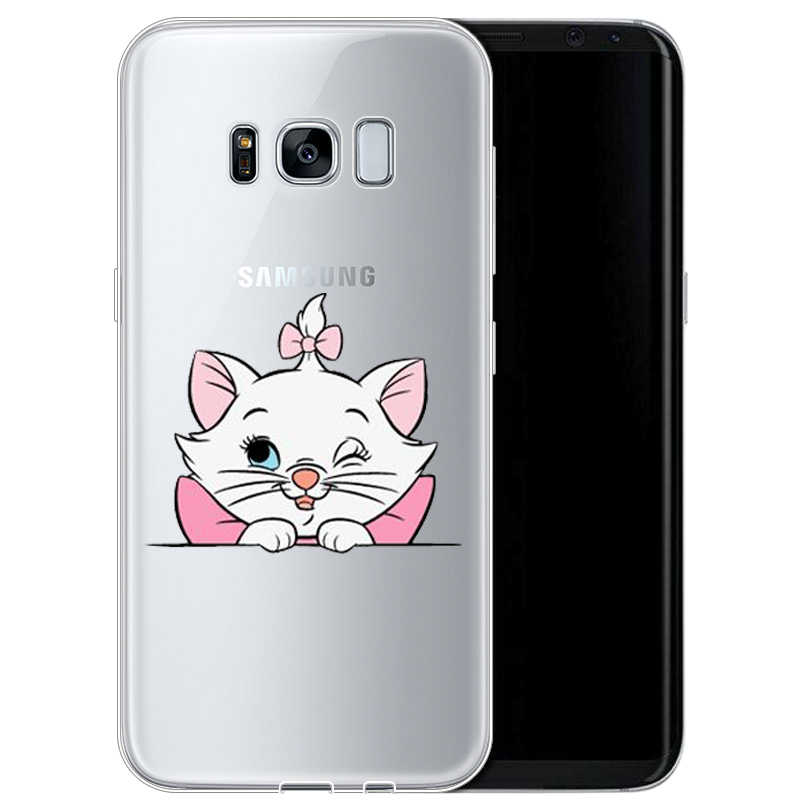 "Kreskówki ""arystokratów"" Marie koty kot miękka TPU etui do Samsung 2017A5 S7EDGE S6 S7 S9 S8PIUS 2018A8 A6 A8PIUS NOTE8 NOTE9cover"