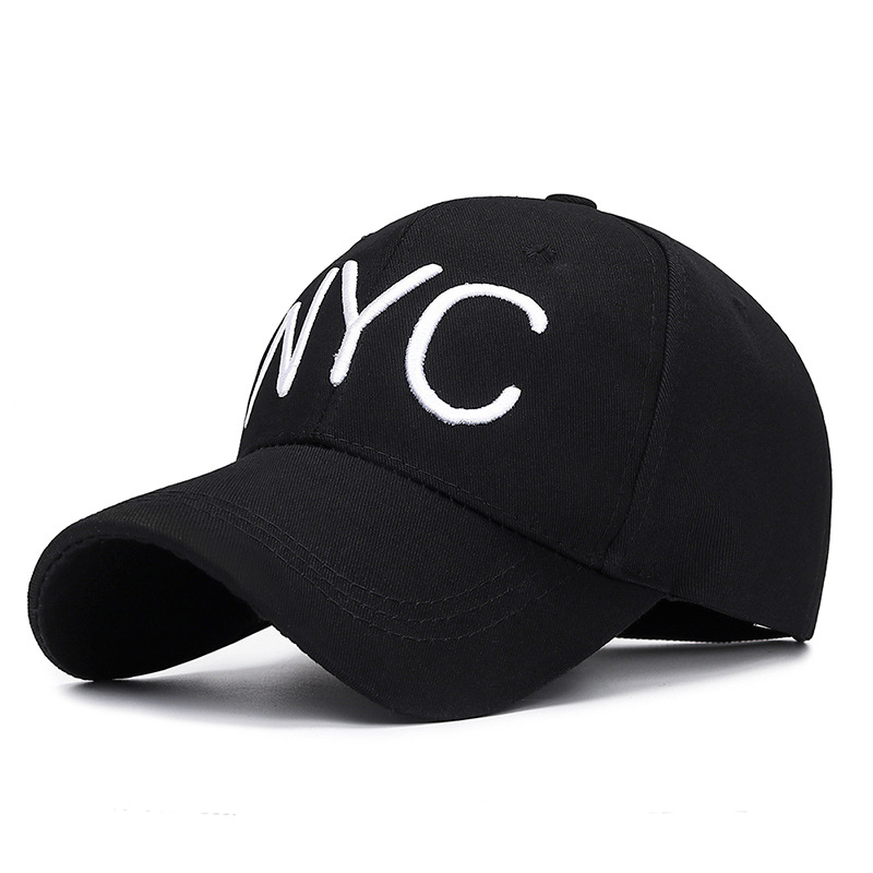 2019 New Casual <font><b>NYC</b></font> 3D Letter Embroidery Dad Hat Men Women Summer Fashion Baseball Cap Spring Autumn Visor Caps Adjustable Hats image