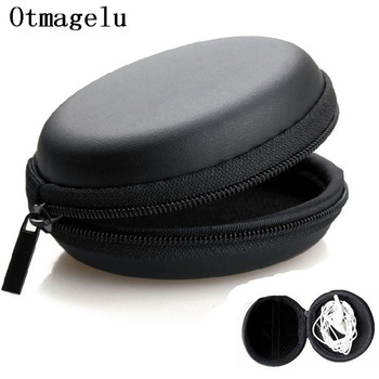 Mini Earphone Holder Case Carrying Hard Box Storage Bag for Earphone Accessories Earbuds memory Card USB cable organizer