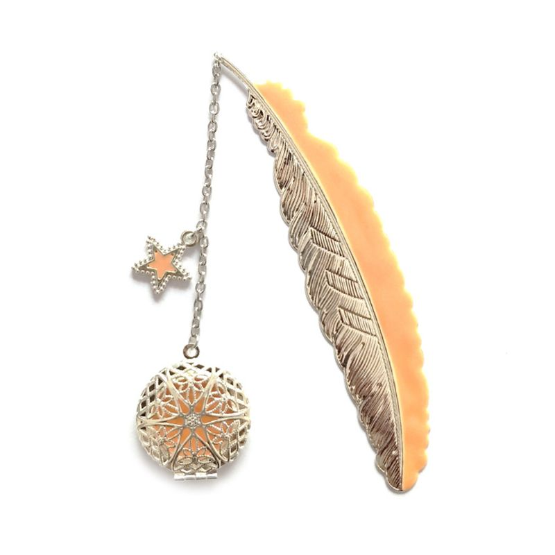 Metal Luminous Feather Angel Wings Bookmark Retro Moon Bookmark Fluorescent Big Five Stars Time Gem Exquisite Small Bookmarks