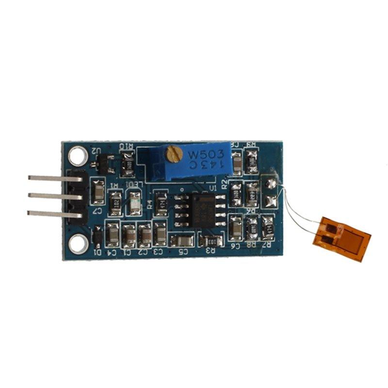 Strain Gauge Bending Detection Test Sensor Module Weigh Amplifier Voltage Output Blue