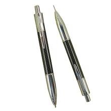Acmecn 2 Cái/lốc Sáng Tạo Đẩy Viết Văn Phòng Phẩm Bộ Sợi Carbon Bút Bi & 0.7 Mm Cơ Bút Chì Đôi Bộ Bút