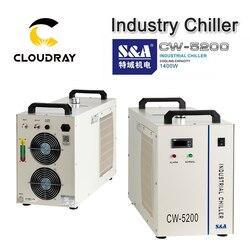 Cloudray S & A CW5200 CW5202 Industrie Luft Wasserkühler für CO2 Laser Gravur Schneiden Maschine Kühlung 150W Laser rohr
