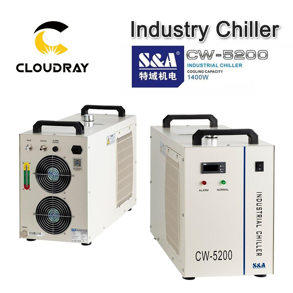 Cloudray s & a cw5200 cw5202 indústria ar água chiller para co2 gravação a laser máquina de corte de refrigeração 150 w tubo do laser