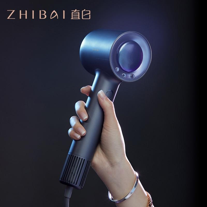 ZHIBAI מקצועי גבוהה מהירות שיער מייבש שיער תרמוסטטי חזק רוח לפוצץ מייבש נסיעות מייבש נייד Hairdry האיחוד האירופי Pulg