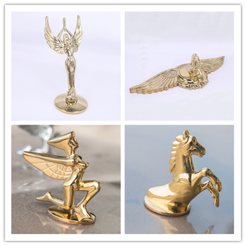【High Quality】 Car Styling 21*9cm Zinc Alloy Golden Silver Horse Eagle Goddess Emblem Rear Trunk Badge Side Logos