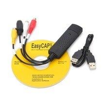 Portátil fácil de Video USB 2,0 convertidor de Audio tarjeta de captura de DVD DVR VHS compatible con NTSC y PAL de vídeo de alta calidad