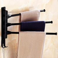 Rotierenden 3 Tier Wand Montiert Bad Handtuch Rack Halter Lagerung Regal Veranstalter Heißer-in Handtuchstangen aus Heim und Garten bei