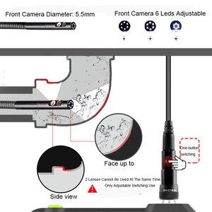 Image 2 - Lente de cámara Dual NTS500 de 5,5mm y 8mm pantalla 1080P HD 5,0, tubo LCD, cámara de inspección para automóviles, endoscopio, IP67, videoscope, kamera subacuática