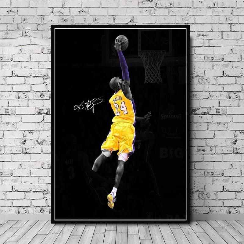 G263 Kobe Bryant Player Champion Celebration MVP Super Star Art Poster