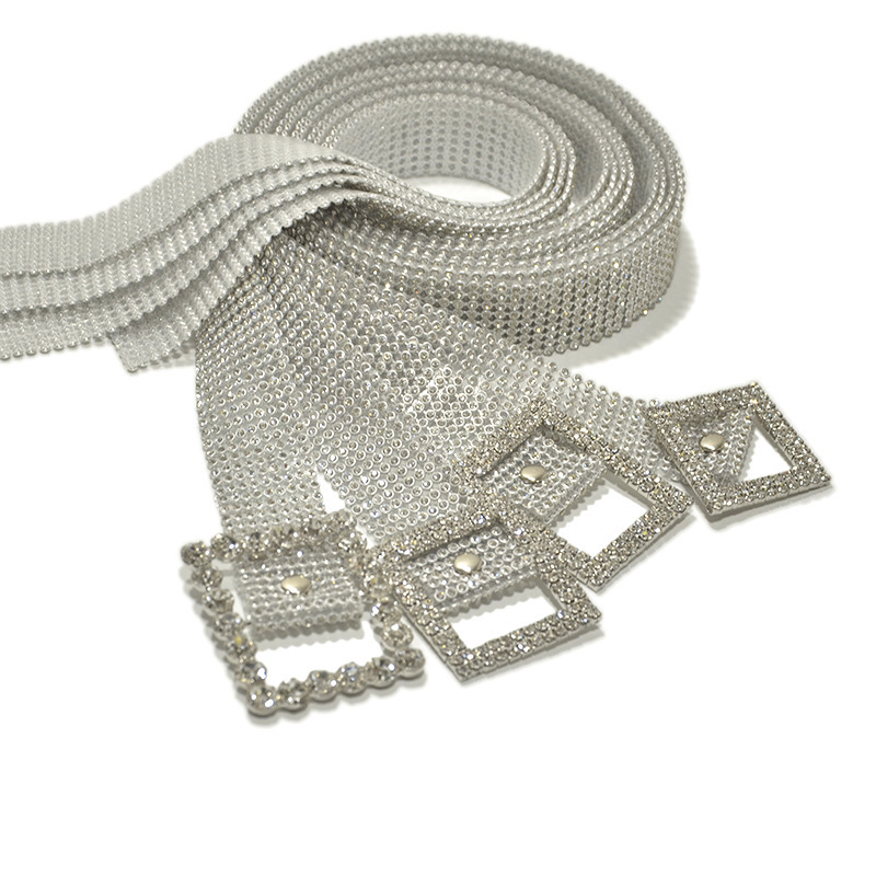 2020 Fashion Women Belts 9 Rows Full Rhinestone Shiny Waistband Casual Party Dress Belt Chain